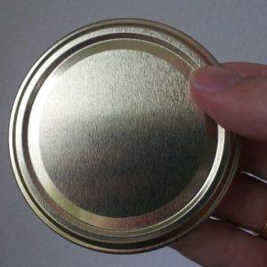 Golddeckel zu 500 g Honig Glas