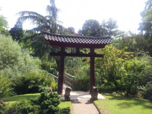 Japanischer Garten mit Glückstor