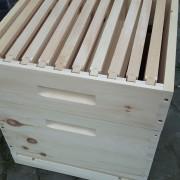 Rähmchenrechen im Honigraum der Dadantbeute