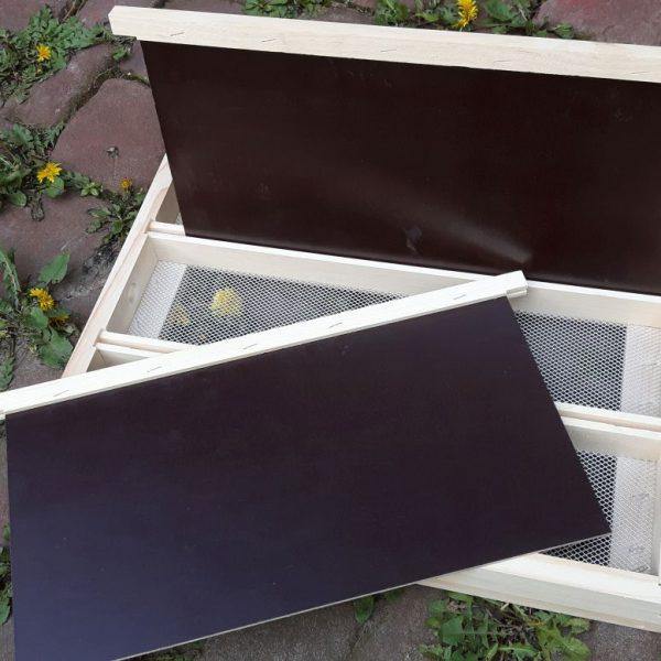 Dreierboden mit zwei Trennschieden