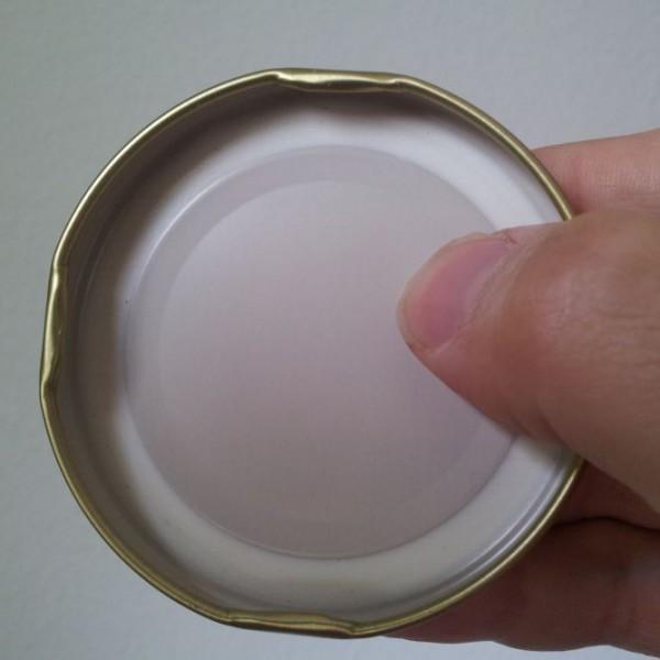 Innensicht Golddeckel zu Honigglas 250 g