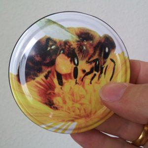 Bienendeckel zu 500 g Honigglas