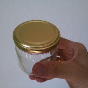 Honigglas 250g mit Gold Deckel ohne Weichmacher ESBO