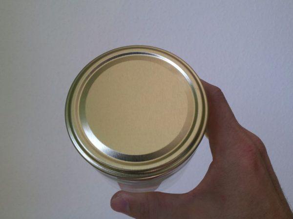 Honigglas 500g mit Golddeckel