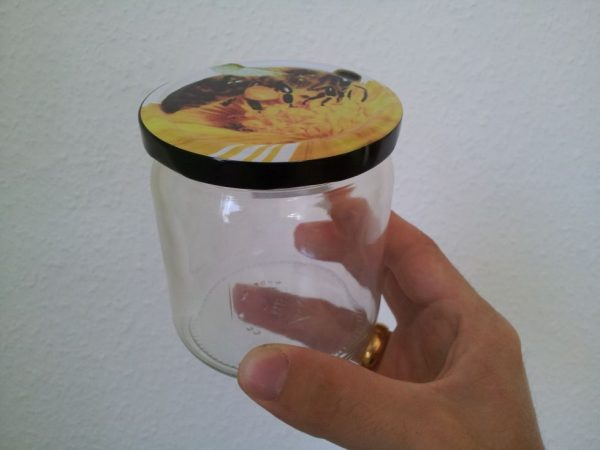 Honigglas 500g mit Bienendeckel ohne Weichmacher ESBO