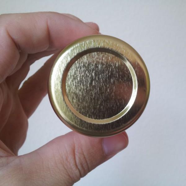 Mini Golddeckel für Frühstücksglas 50g Honig