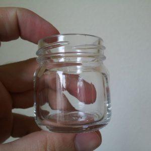 Mini Frühstücksglas für 50 Gramm Honig - ohne Deckel