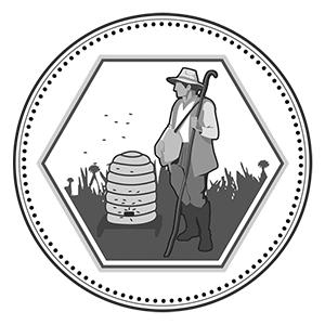 Bienenhirte auf 1 Unze Silbermedaille im Perlenkranz