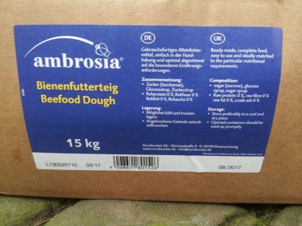 ambrosia 15 kg Futterteig von Nordzucker im Block