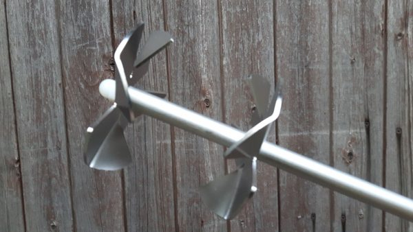 Doppelflügel für Gegenstrudel